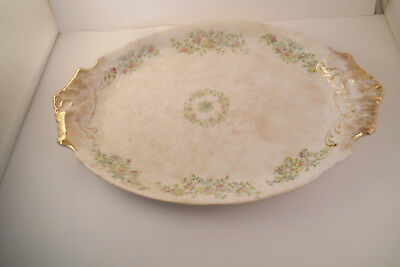 Vintage Warwick China Two Handled Oval Serving Platter Yellow Blue Flowers