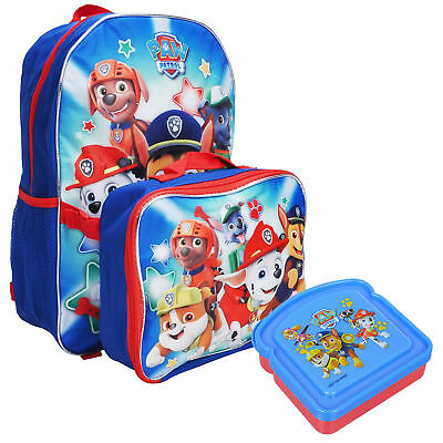 Paw Patrol Boys Backpack & Lunch Bag with Bonus Sandwich Container