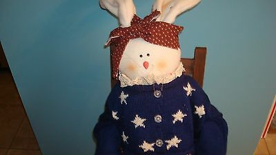 Americana Country Folk Art Bunny 4Th Of July * Large 40In*
