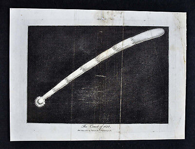 1806 Astronomy Print - Great Comet of 1680 or Kirch's Comet w Long Tail Space
