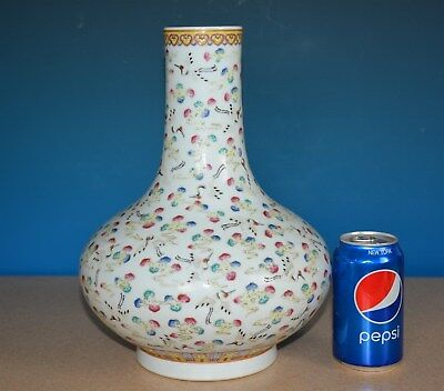Fine Antique Chinese Famille Rose Porcelain Vase Marked Guangxu Rare H9999