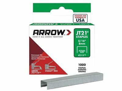 Arrow JT21 T27 Staples 8mm ( 5/16in) Box 5000