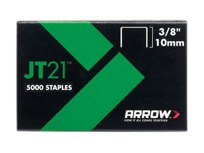 Arrow JT21 T27 Staples 10mm (3/8in) Box 5000
