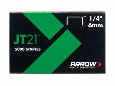 Arrow JT21 T27 Staples 6mm (1/4in) Box 5000