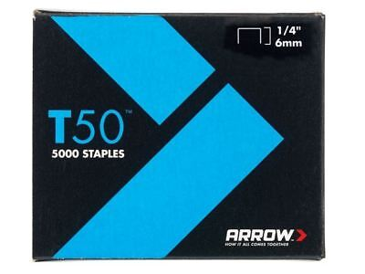 Arrow T50 Staples 6mm (1/4in) Pack 5000 (4 x 1250)