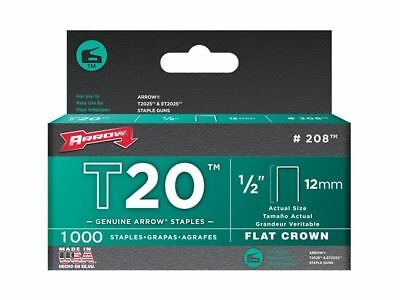 Arrow T20 Staples 12mm (1/2in) Box 1000