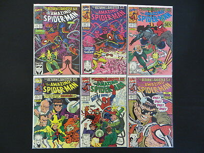 Amazing Spider-Man #334-339 Return Of The Sinister Six 6 Issue Complete Set Run