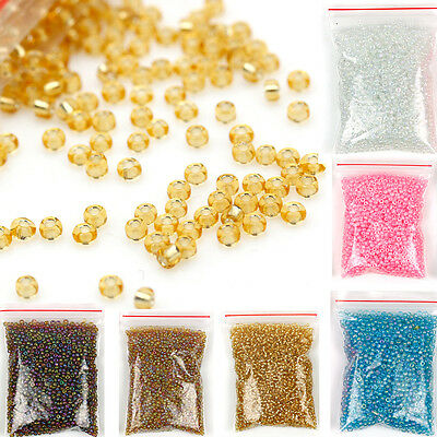 1200pcs Lots 2mm Glass Beads Seed Pearls Round Spacer Charm Jewelry Making DIY