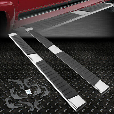 "For 2007-2018 Silverado/sierra Crew Cab Pair 6"" Chrome Running Board Step Bar"