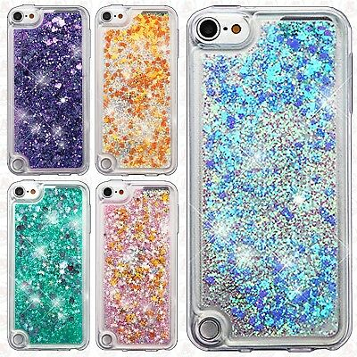 For iPod Touch 5th 6th Gen Liquid Glitter Quicksand Hard Case Phone Cover