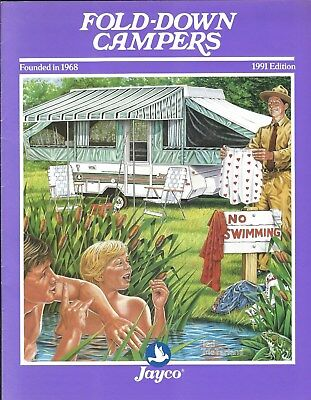 Travel Trailer Brochure - Jayco - Fold-Down Campers - 1991 (MH83)