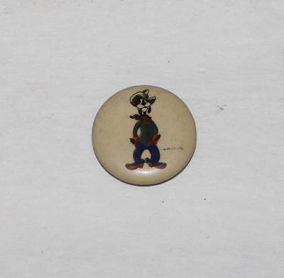 "Vintage Disney ""adorable"" Goofy ""canadian"" Market Tin Litho Pinback Button"