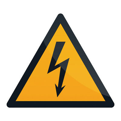Fixman 346548 100 x 100mm Self-Adhesive Electricity Warning Sign