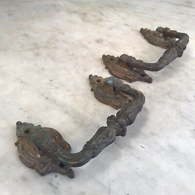 Pair of antique 19th Century decorative bronze handles