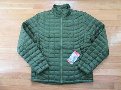 North Face Mens Thermoball Full Zip Jacket, Scallion Green, Nwt, M