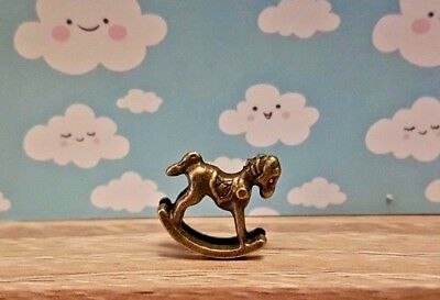 ROCKING HORSE toy child nursery metal 1:48th scale dolls house UK SELLER