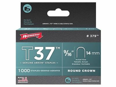 Arrow T37 Staples 14mm (9/16in) Box 1000