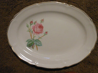 Edwin Knowles China Platter With Roses, Made In Usa
