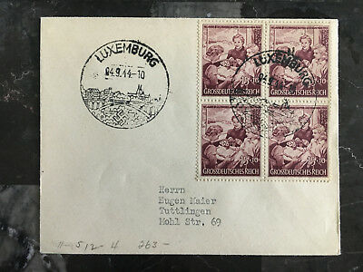1944 Luxembourg Cover to Tuttlingen German Franking
