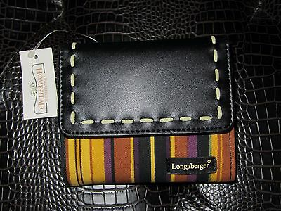 Longaberger  AUTUMN STRIPE Small WALLET ~ Removable ID HOLDER NWT