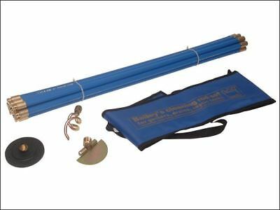 """Bailey 5431 Universal 3/4"""" Drain Rod Set 3 Tools In Carry Bag 4"""" Plunger Scraper"""