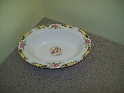 Vintage Edwin M. Knowles Oval Vegetable Bowl/Dish
