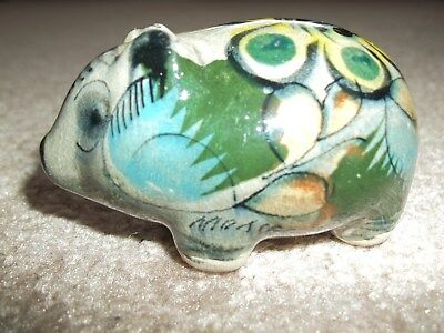 Mexican Pottery Pig with Gloss Finish