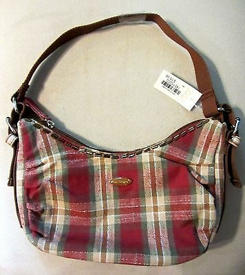 Longaberger Small HOBO PURSE Orchard PARK Plaid BLING  KIDS Girls NWT