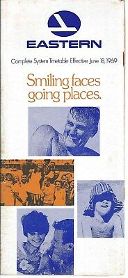 Airline Timetable - Eastern - 18/06/69