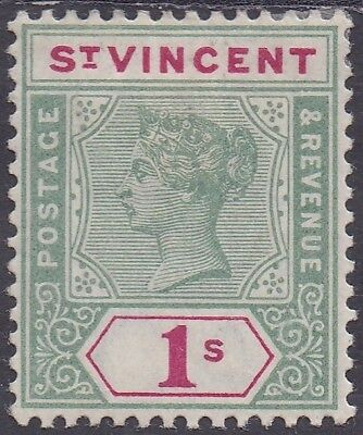 St Vincent 1899 Qv Key Type 1/-