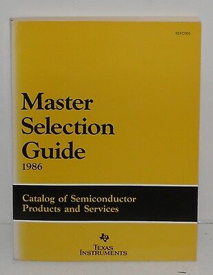 1986 Master Selection Guide, By Texas Instruments, Soft Bound
