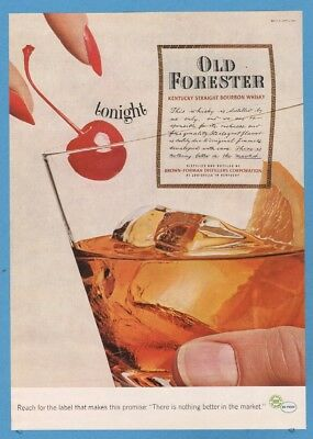 1964 Old Forester Whisky Brown Forman cocktail drink Louisville  Kentucky KY Ad