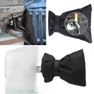 Outdoor Faucet Covers for Winter Freeze Protection Flexible Faucet Sock Black
