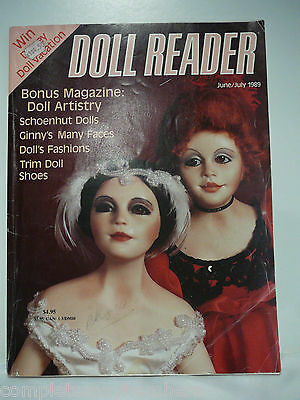 Doll Reader June/ July 1989, Doll's Fashions Trim Doll Shoes History