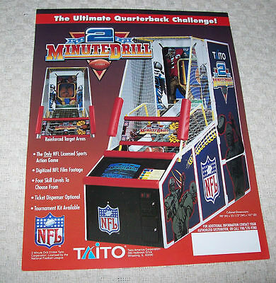 Taito 2 Minute Drill Football Game Flyer Brochure 1994