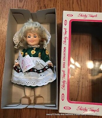"Excellent 1982 Ideal Shirley Temple 7.5"" Doll Heidi NRFB IOB"