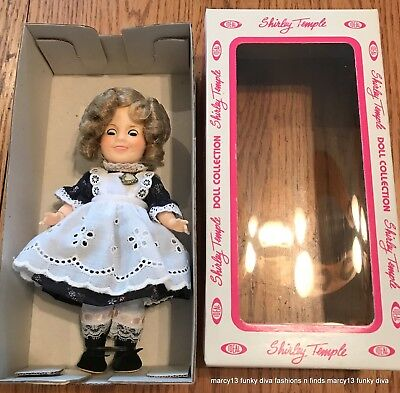 "Excellent 1982 Ideal Shirley Temple 7.5"" Doll Littlest Rebel NRFB IOB"