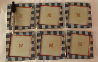 Very Unusual Set of 6 Dessert Plates Japan/Japanese-from Japan, ship free