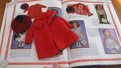 SHIRLEY TEMPLE IDEAL RED COAT w/ HORSE APPLIQUE MATCHING CAP FOR ST-12 DOLL  TLC