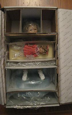 SHIRLEY TEMPLE TWO OF A KIND POLKA DOT PALS DANBURY MINT DOLLS w/ BOX