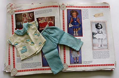 Shirley Temple  Ideal Blue Fruit Pajama Pants Set For St-12 Doll  Extremely Rare