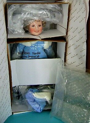 SHIRLEY TEMPLE MAKES HER MARK DANBURY MINT DOLL w/ BOX