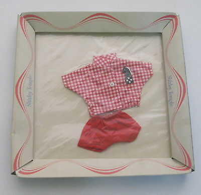 SHIRLEY TEMPLE IDEAL RED SHORTS SET FOR ST-12 DOLL w/ FLAT BOX