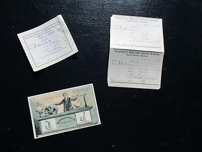 1878-82 (4) Buffalo Scale MFG.,COLORFUL Trade Card,Hay Scale document lot!