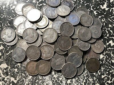 1910 Straits Settlements 5 Cents Silver! (99 Available) Circ. (1 Coin Only)