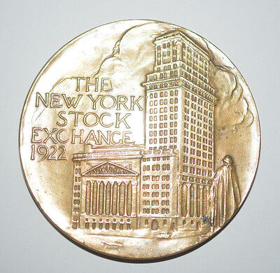 New York Stock Exchange 1922 Medaille Augustus Lukeman Medal verso 1792