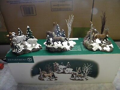 DEPT 56 *Woodland Animals At Cliff's Edge* 52816 Set of 3, Retired