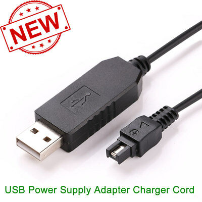USB Power Supply Adapter Charger Cord Sony Handycam Station Dock Charging Cradle