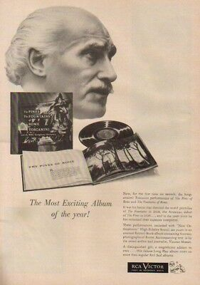 1953 RCA Victor Toscanini Phonograph Records LP Ad Vintage 1950s Advertising
