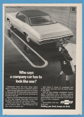 1969 Chevrolet Impala Sport Sedan Chevy Fleet Car General Motors GM 1968 Ad